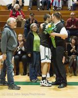 5345 Varsity Basketball and Winter Cheer Seniors Night 2012