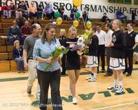 5426 Varsity Basketball and Winter Cheer Seniors Night 2012