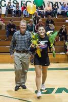 5455 Varsity Basketball and Winter Cheer Seniors Night 2012
