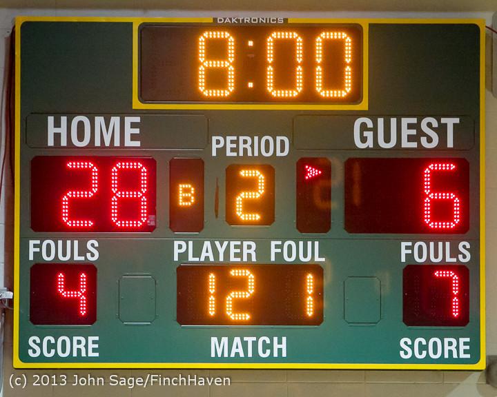 7424 Boys Varsity Basketball v Crosspoint 120112