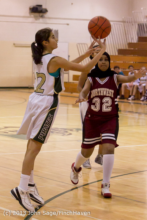 3107 Girls JV Basketball v NW-School 112812