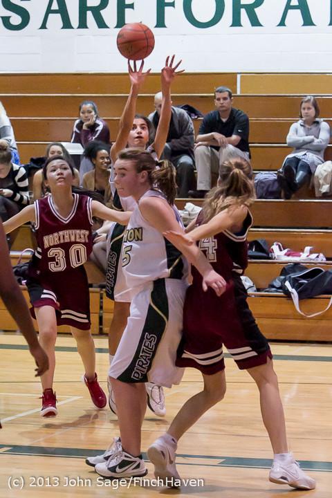 3540 Girls JV Basketball v NW-School 112812