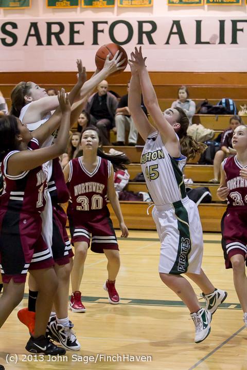 3550 Girls JV Basketball v NW-School 112812