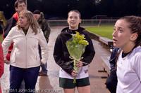 7942 VHS Girls Soccer Seniors Night 2011 101111