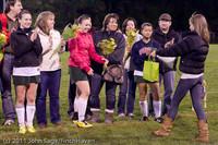 8023 VHS Girls Soccer Seniors Night 2011 101111