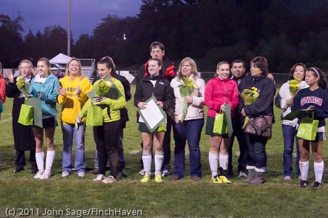 8072 VHS Girls Soccer Seniors Night 2011 101111