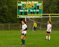 6687 Girls Varsity Soccer v Casc-Chr 101111