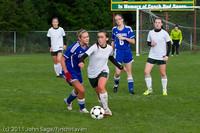 7236 Girls Varsity Soccer v Casc-Chr 101111