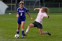 7611 Girls Varsity Soccer v Casc-Chr 101111