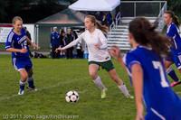 7656 Girls Varsity Soccer v Casc-Chr 101111