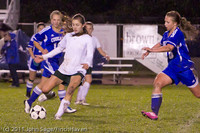 9247 Girls Varsity Soccer v Casc-Chr 101111