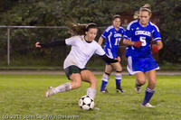 9286 Girls Varsity Soccer v Casc-Chr 101111