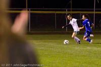 9325 Girls Varsity Soccer v Casc-Chr 101111
