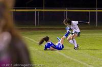 9336 Girls Varsity Soccer v Casc-Chr 101111