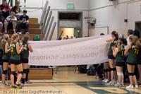 3099 VHS Volleyball Seniors Night 2011 101011