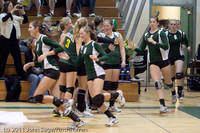 3156 VHS Volleyball Seniors Night 2011 101011