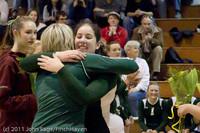 3266 VHS Volleyball Seniors Night 2011 101011