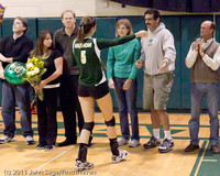 3317 VHS Volleyball Seniors Night 2011 101011