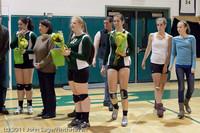 3320 VHS Volleyball Seniors Night 2011 101011