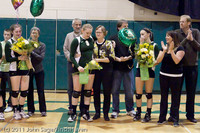 3509 VHS Volleyball Seniors Night 2011 101011