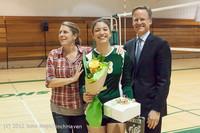 1958 VHS Volleyball Seniors Night 2012 102412