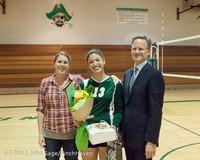 1960 VHS Volleyball Seniors Night 2012 102412