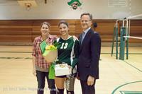 1962 VHS Volleyball Seniors Night 2012 102412