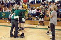 1966 VHS Volleyball Seniors Night 2012 102412