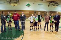 1999 VHS Volleyball Seniors Night 2012 102412