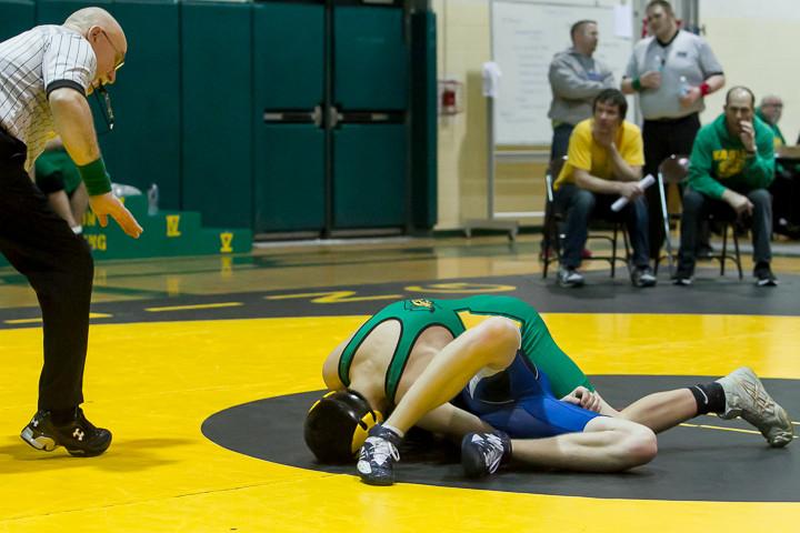 2556 VHS Wrestling at Sub-Regionals 020213