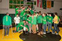 2811 VHS Wrestling at Sub-Regionals Awards 020213