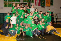 2814 VHS Wrestling at Sub-Regionals Awards 020213