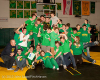 2823 VHS Wrestling at Sub-Regionals Awards 020213