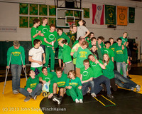 2829 VHS Wrestling at Sub-Regionals Awards 020213